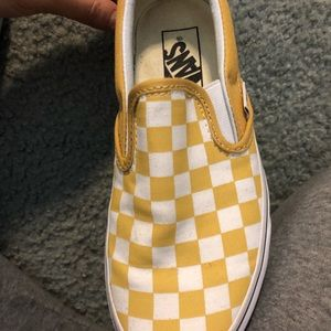 YELLOW CHECKERED VANS